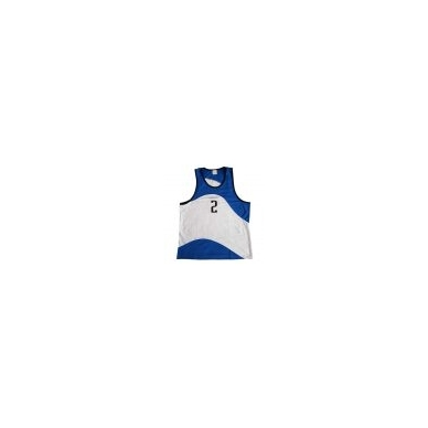 Paplūdimio tinklinio marškinėliai PANAMA BLUE WHITE 3