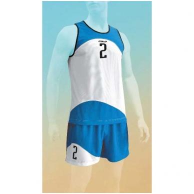 Paplūdimio tinklinio marškinėliai PANAMA BLUE WHITE