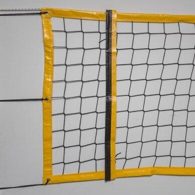 Paplūdimio tinklinio tinklas NETEX su antenomis ir kišenėmis
