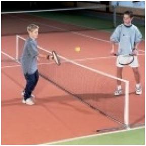 Vaikiškas nešiojamas lauko teniso rinkinys (6m x 0,7m)